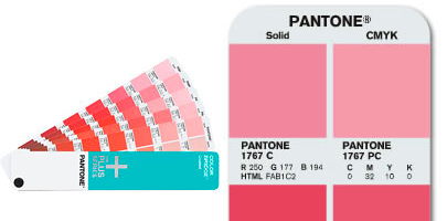 Pantone Color Guide and Pantone Swatch